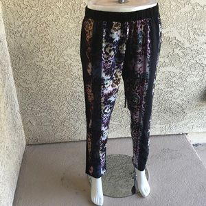 Clover canyon print trousers sz M